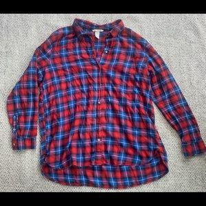 H&M Plaid Long Sleeve Button Down Flannel